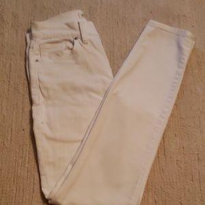 white high rise skinny Madewell jean